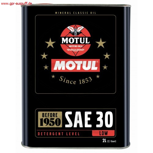 motul classic oil sae 30 mineralisches motor l 2l. Black Bedroom Furniture Sets. Home Design Ideas